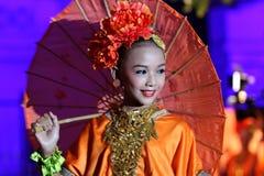 Danse de parapluie photos stock