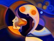 Danse de peinture intérieure Images libres de droits