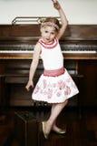 Danse de petite fille Photo stock
