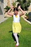 Danse de petite fille Images libres de droits
