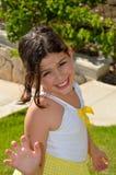 Danse de petite fille Photographie stock