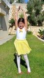 Danse de petite fille Photos stock