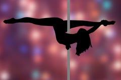 Danse de Polonais Fille avec le poteau Image stock