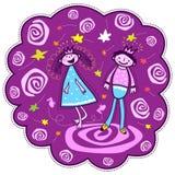 Danse de princesse et de prince Photo libre de droits