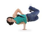 Danse de rupture de danse d'adolescent dans l'action Photo stock