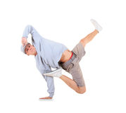 Danse de rupture de danse d'adolescent dans l'action Images libres de droits