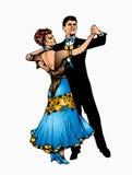 Danse de salle de bal Images libres de droits