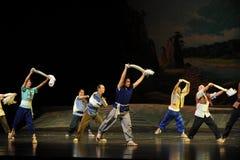 Danse de serviette des travailleurs - opéra de Jiangxi une balance Image libre de droits