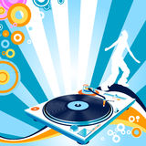 Danse de silhouette Image libre de droits