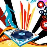 Danse de silhouette Photos libres de droits
