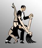Danse de tango illustration stock