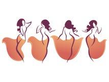 Danse de ventre illustration libre de droits