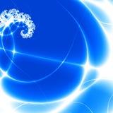 Danse des lumières bleues. Photographie stock libre de droits