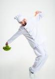 Danse drôle de cuisinier de chef Photo libre de droits