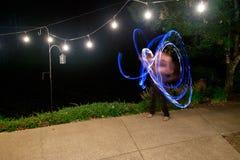 Danse du feu de réception de mariage Photographie stock libre de droits