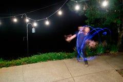 Danse du feu de réception de mariage Image stock