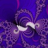 Danse du fond violet au néon d'abrégé sur fractale du feu illustration libre de droits