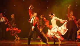 Danse du monde de cheveux de l'Autriche encens-espagnole de ivresse de flamenco-le Images libres de droits