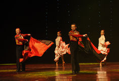 Danse du monde de l'Autriche Cap-espagnole de flamenco-le de tauromachie Photos libres de droits