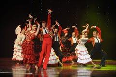 Danse du monde de l'Autriche Cap-espagnole de flamenco-le de tauromachie Photographie stock