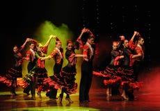 Danse du monde de l'Autriche cavalier-espagnole de flamenco-le de tauromachie Photographie stock