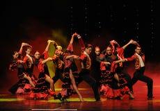 Danse du monde de l'Autriche cavalier-espagnole de flamenco-le de tauromachie Image libre de droits
