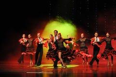Danse du monde de l'Autriche cavalier-espagnole de flamenco-le de tauromachie Photo stock