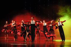 Danse du monde de l'Autriche cavalier-espagnole de flamenco-le de tauromachie Images libres de droits