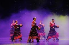 Danse du monde de l'Autriche cavalier-espagnole de flamenco-le de tauromachie Image stock