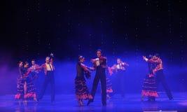 Danse du monde de l'Autriche chevalier-espagnole vaillante de flamenco-le Photographie stock