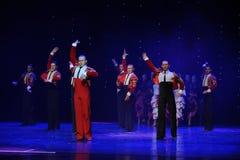 Danse du monde de l'Autriche chevalier-espagnole vaillante de flamenco-le Photos stock