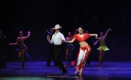 Danse du monde de l'Autriche de cha-the de cha de cowboy-Le d'éloge Photographie stock