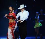 Danse du monde de l'Autriche de cha-the de cha de cowboy-Le d'éloge Photos stock
