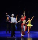 Danse du monde de l'Autriche de cha-the de cha de cowboy-Le d'éloge Photo libre de droits