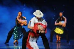 Danse du monde de l'Autriche de cha-the de cha de cowboy-Le d'éloge Images stock