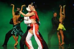 Danse du monde de l'Autriche de cha-the de cha de cowboy-Le d'éloge Photo stock