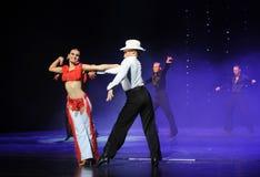 Danse du monde de l'Autriche de cha-the de cha de cowboy-Le d'éloge Image libre de droits