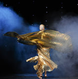 Danse du monde de l'Autriche de danse-le de ventre de la vêtements-Turquie d'or Photographie stock libre de droits
