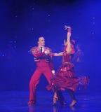 Danse du monde de l'Autriche de flamenco-le de Cloak-Spanish de chevalier Photos libres de droits