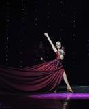 Danse du monde de l'Autriche de souvenirs-le de robe-Inde de vin rouge Photo stock