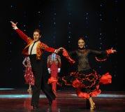 Danse du monde de l'Autriche Instantané-espagnole de flamenco-le Photographie stock