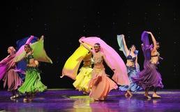 Danse du monde de la chiffre-Turquie de ventre de l'Autriche de balancement de danse-le Photographie stock libre de droits