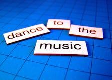 Danse en musique Photographie stock