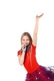 Danse en rouge Photographie stock libre de droits