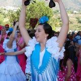 Danse espagnole de flamenco de fille, Marbella Images libres de droits