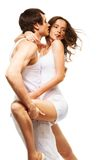 Danse et baisers de couples Photo stock