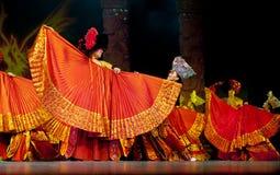 Danse ethnique chinoise de nationalité de Yi Images libres de droits