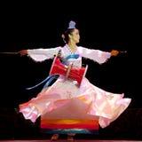Danse ethnique coréenne Images libres de droits
