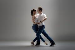 Danse för pardanssamkväm Royaltyfria Foton