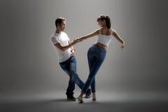 Danse för pardanssamkväm Royaltyfria Bilder